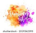 watercolor imitation background ... | Shutterstock .eps vector #1019362393