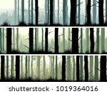 set of horizontal banners of... | Shutterstock .eps vector #1019364016