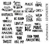 cute kids phrases  for baby... | Shutterstock .eps vector #1019365078