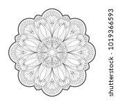flower mandala. vintage round... | Shutterstock .eps vector #1019366593