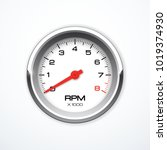 vector tachometer isolated | Shutterstock .eps vector #1019374930
