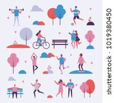 vector illustration in flat... | Shutterstock .eps vector #1019380450