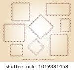 set vector retro frames .vector ... | Shutterstock .eps vector #1019381458