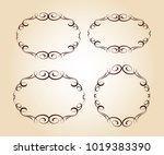 elegant frame.vector... | Shutterstock .eps vector #1019383390