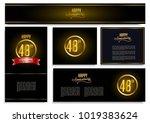 happy anniversary design card... | Shutterstock .eps vector #1019383624