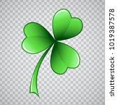 clover trefoil leaf vector... | Shutterstock .eps vector #1019387578