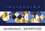 luxury marine geometric pattern.... | Shutterstock .eps vector #1019391520