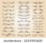 calligraphic elegant elements...   Shutterstock .eps vector #1019392600