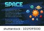 space vector banner design with ... | Shutterstock .eps vector #1019395030