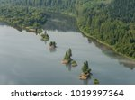 landscape with a river and... | Shutterstock . vector #1019397364