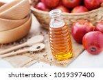 bottle of apple cider vinegar... | Shutterstock . vector #1019397400