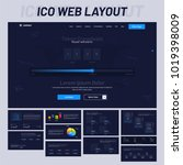 website ui  for ico website...