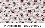seamless floral pattern in... | Shutterstock .eps vector #1019398033