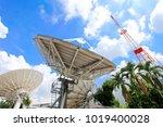 television antenna antenna on... | Shutterstock . vector #1019400028