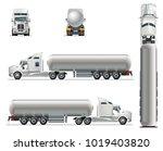 vector realistic tanker truck... | Shutterstock .eps vector #1019403820