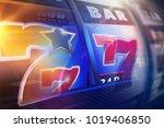 abstract slot machine reels... | Shutterstock . vector #1019406850