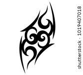 tattoo tribal vector design.... | Shutterstock .eps vector #1019407018