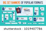 big set banners adapted to... | Shutterstock .eps vector #1019407786