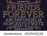 vintage font typeface...   Shutterstock .eps vector #1019410126