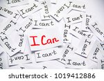 i can. words of motivation.... | Shutterstock . vector #1019412886