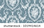 floral lace seamless pattern | Shutterstock .eps vector #1019414614