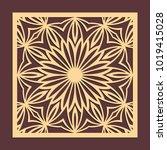 laser cutting panel. golden...   Shutterstock .eps vector #1019415028