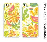 vector fashion phone case.... | Shutterstock .eps vector #1019415568