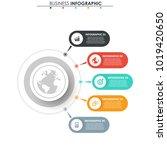 business data. process chart.... | Shutterstock .eps vector #1019420650