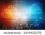 2d rendering cloud computing ... | Shutterstock . vector #1019422270