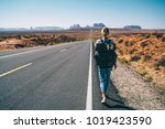 back view of hipster girl... | Shutterstock . vector #1019423590