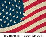 grunge american flag.vector... | Shutterstock .eps vector #1019424094