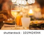 close up glass of beer on the... | Shutterstock . vector #1019424544