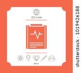 electrocardiogram symbol icon....   Shutterstock .eps vector #1019426188