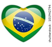 vector   brazil flag heart... | Shutterstock .eps vector #101942794