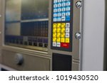 control panel of a computer... | Shutterstock . vector #1019430520