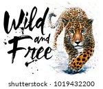 Leopard Watercolor Jaguar...