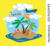 tropical island travel... | Shutterstock .eps vector #1019433493