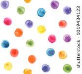 kids pattern. polka dot. kids...   Shutterstock . vector #1019434123
