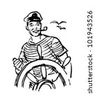 sailor at the helm   retro... | Shutterstock .eps vector #101943526