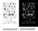vector cirillic font with... | Shutterstock .eps vector #1019441020