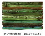 colorful shabby wooden board.... | Shutterstock .eps vector #1019441158