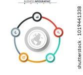 business data. process chart.... | Shutterstock .eps vector #1019441338