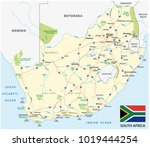 south africa road vector map... | Shutterstock .eps vector #1019444254