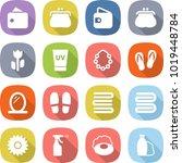 flat vector icon set   wallet... | Shutterstock .eps vector #1019448784