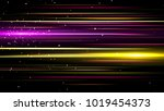 light and stripes moving fast... | Shutterstock . vector #1019454373