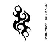 tattoo tribal vector design.... | Shutterstock .eps vector #1019455639