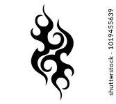 tribal pattern tattoos art... | Shutterstock .eps vector #1019455639