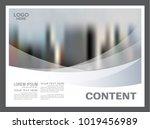 black and white flyer design... | Shutterstock .eps vector #1019456989