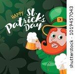 happy saint patricks day design ... | Shutterstock .eps vector #1019457043