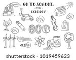 ecology. hand sketches on the... | Shutterstock .eps vector #1019459623